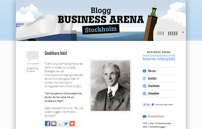 Blogg Business Arena