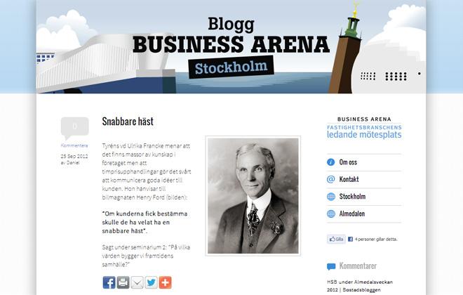 Blogg Business Arena